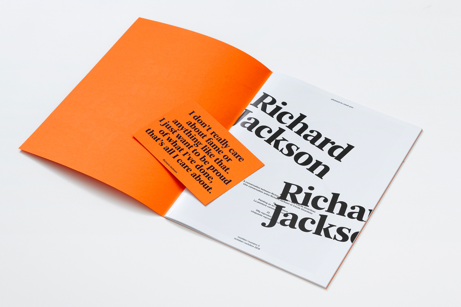 Pleased to meet you #5 - Richard Jackson