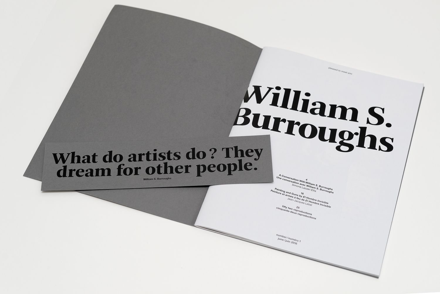 Pleased to meet you #1 - William S. Burroughs
