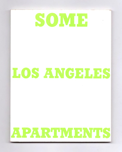 SOME LOS ANGELES APARTMENTS - Ed Ruscha